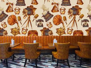 Papel tapiz personalizado para tu negocio Paredes y pisos de estilo clásico de Kromart Wallcoverings - Papel Tapiz Personalizado Clásico