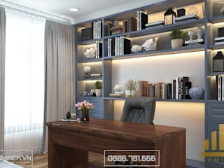 Thiết kế nội thất chung cư Ciputra nhà Anh Tùng - 130m2 bởi Thiết kế - Nội thất - Dominer