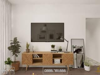 Thiết kế nội thất chung cư Trung Hòa nhà anh Quân - 90m2 bởi Thiết kế - Nội thất - Dominer