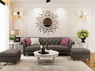 Thiết kế nội thất chung cư tại Royal City Nhà Chị Hiền - 140m2 bởi Thiết kế - Nội thất - Dominer