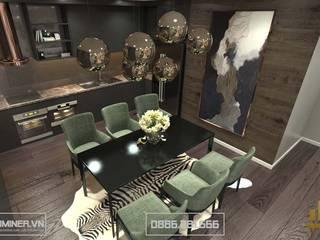 Thiết kế nội thất chung cư GoldMark Nhà Chị Lan - 135m2 bởi Thiết kế - Nội thất - Dominer