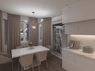 квартира по ул.Джамбула 27: Встроенные кухни в . Автор – TiM interior design,