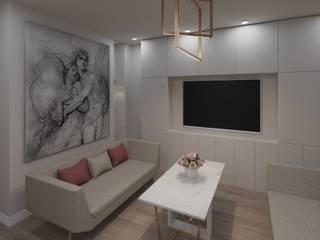 квартира по ул.Джамбула 27: Гостиная в . Автор – TiM interior design,
