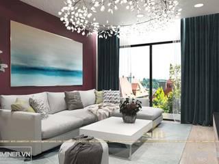 Thiết kế nội thất chung cư GoldMark - Nhà Anh Thắng - 140m2 bởi Thiết kế - Nội thất - Dominer