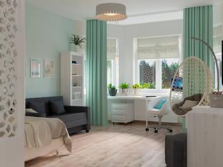 Mint and white Детская комнатa в стиле минимализм от Дизайн студия Марии Зерщиковой Минимализм