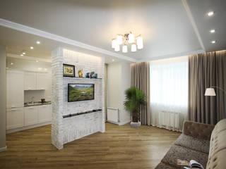 Проект квартиры студии S-50м2.: Гостиная в . Автор – idd