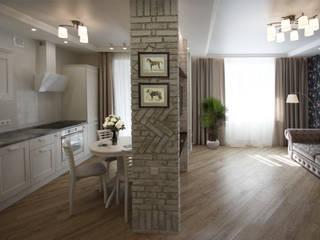 Проект квартиры студии S-50м2.: Столовые комнаты в . Автор – idd