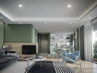 Single Family House - Interior Design İskandinav Oturma Odası Onur Eroğuz Mimarlık Hizmetleri İskandinav