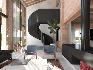 Living room by MIDE architetti,