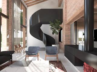 Śródziemnomorski salon od MIDE architetti Śródziemnomorski