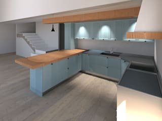 G&S INTERIOR DESIGN Dapur built in Kayu Turquoise