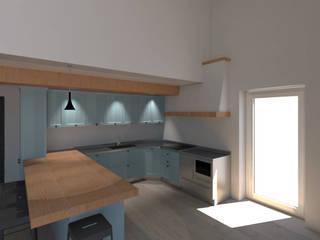 G&S INTERIOR DESIGN 廚房 木頭 Turquoise
