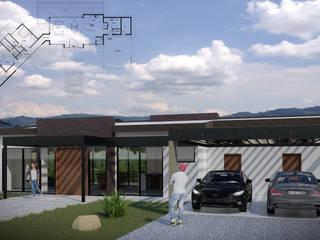 Imagen principal + planimetría : Casas de estilo  por Taller Once Arquitectura