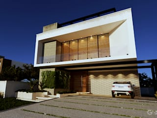 Casa Contemporânea  - Casa AB : Condomínios  por Gelker Ribeiro Arquitetura | Arquiteto Rio de Janeiro