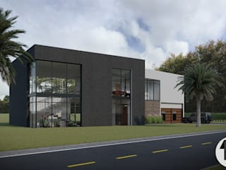 Render Exterior:  de estilo  por Taller Once Arquitectura
