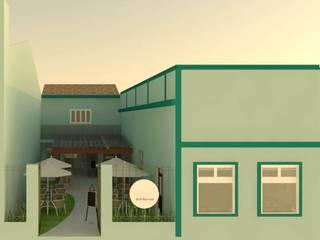 Projeto Comercial - Saborami Self Service Espaços gastronômicos modernos por Wendely Barbosa - Designer de Interiores Moderno