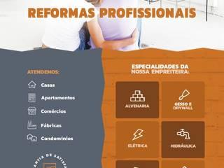 カントリースタイルの お風呂・バスルーム の PC Obras Forma & Reforma カントリー