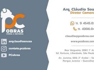 Cartão PC Obras Forma & Reforma Closets Cerâmica Cinza