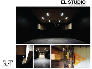 El Studio (Estudio de grabación): Salones de conferencias de estilo  por SLAP Arquitectos, Moderno