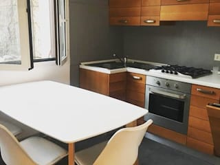 DUOLAB Progettazione e sviluppo Built-in kitchens Solid Wood Grey