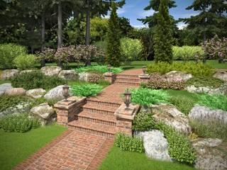 Проект загородной резиденции в Новой Москве. Сад в классическом стиле от ООО «Арт Грин Дизайн» Классический