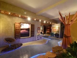 Rustic style walls & floors by Perotto E Fontoura Estúdio de Arquitetura Rustic