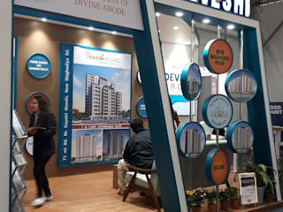Booth of Devesh Group @ Credai Property Show 2019:  Commercial Spaces by Inklets studio