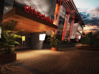 3D Commercial Building Rendering:   by Elite Atelier