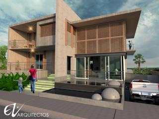 Fachada Resiencia: Casas de madera de estilo  por Eduardo Zamora arquitectos,