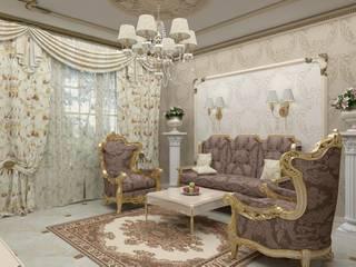 Мансарда в классическом стиле Гостиная в классическом стиле от Студия дизайна интерьера 'ЭЛЬ ХОСЕ' Классический