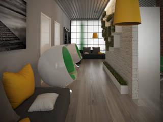 Стиль Лофт в банке Офисные помещения в стиле лофт от Студия дизайна интерьера 'ЭЛЬ ХОСЕ' Лофт