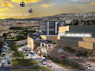 Modern shopping centres by Javier Figueroa 3D Modern