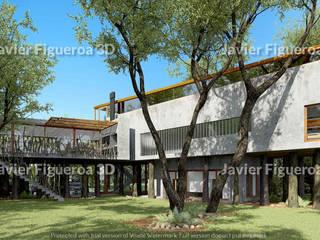 Javier Figueroa 3D Rustic style houses