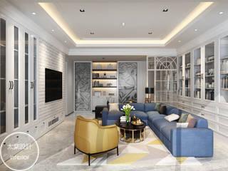 太棠設計 Modern living room White