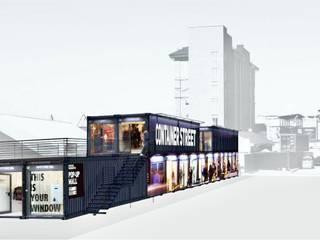 CONTAINER STREET 2.0: Офисы и магазины в . Автор – Лофт-квартал 'Мельница'