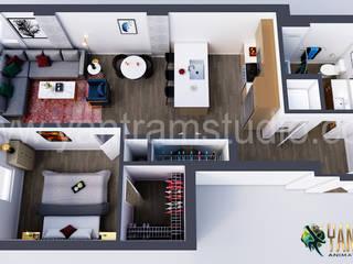 Modern Residential Floor Plan Designer Concept by Yantram 3D Architectural Animation Studio, Vancouver – Canada von Yantram Architectural Design Studio Modern