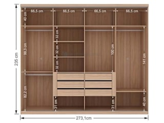 Decordesign Interiores Dressing roomWardrobes & drawers Chipboard Wood effect