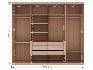 Decordesign Interiores Vestidores y closetsArmarios y cómodas Aglomerado Acabado en madera