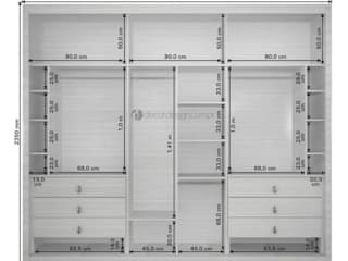Decordesign Interiores Dressing roomWardrobes & drawers Chipboard White
