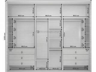 Decordesign Interiores Vestidores y closetsArmarios y cómodas Aglomerado Blanco