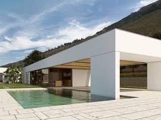 C | U Villa – Termini Imerese ALESSIO LO BELLO ARCHITETTO a Palermo Басейн Камінь Білий
