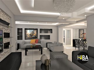 Hiba iç mimarik Modern Living Room Grey