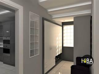 Nowoczesny korytarz, przedpokój i schody od Hiba iç mimarik Nowoczesny