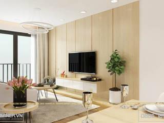 Thiết kế nội thất chung cư GoldMark nhà chị Oanh R3 - 90m2 bởi Thiết kế - Nội thất - Dominer