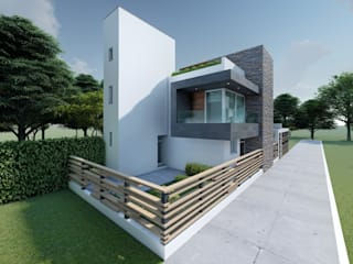 Casas pequeñas de estilo  por DISARQ ARQUITECTOS.,