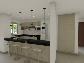 ห้องครัวขนาดเล็ก โดย DISARQ ARQUITECTOS., โมเดิร์น