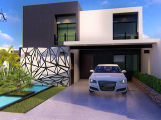 CASA HABITACIÓN H'LIA: Casas unifamiliares de estilo  por Inspire Arquitectos