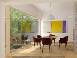 Sala da pranzo moderna di Javier Figueroa 3D Moderno