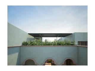 Hotel Boutique Iturbide Balcones y terrazas modernos de NAAG arquitectura Moderno
