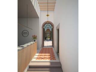 Hotel Boutique Iturbide Pasillos, vestíbulos y escaleras modernos de NAAG arquitectura Moderno